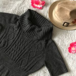 Ann Taylor Loft  Sweater Knit Turtle Neck Dress